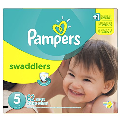 Pampers Swaddlers Diapers Size 5, 62 Count