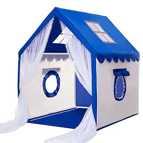 Z-Tapestry YyuX Boy Big Tent, Children's Room Mosquito Nets Birthday Party Game House Cartoon Toy House with Round Window for 3-4 Children Tents for Camping (Color : A, Size : 100126136CM)