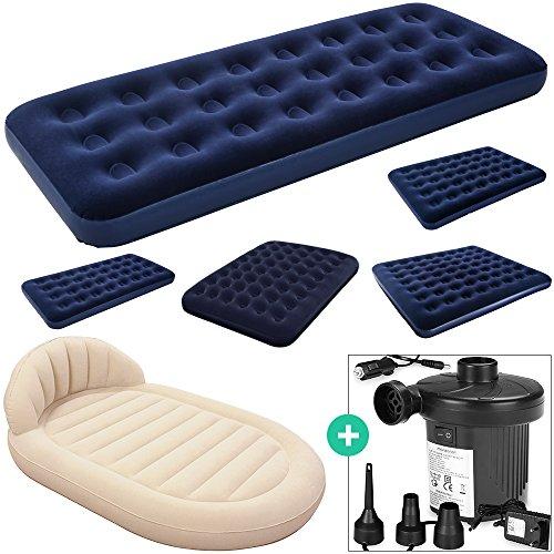 Deuba Luftbett Set mit elektrischer Luftpumpe Luftmatratze | Maße: 185 x 76 x 22 cm | Luftpumpe mit 3 verschiedenen Adaptern