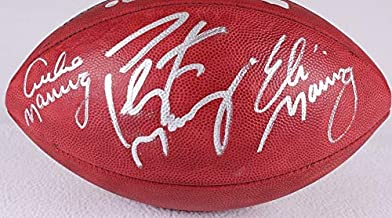 Peyton Manning Eli Manning Archie Manning Triple Signed Autograph Authentic NFL Duke Football Steiner Sports Certified