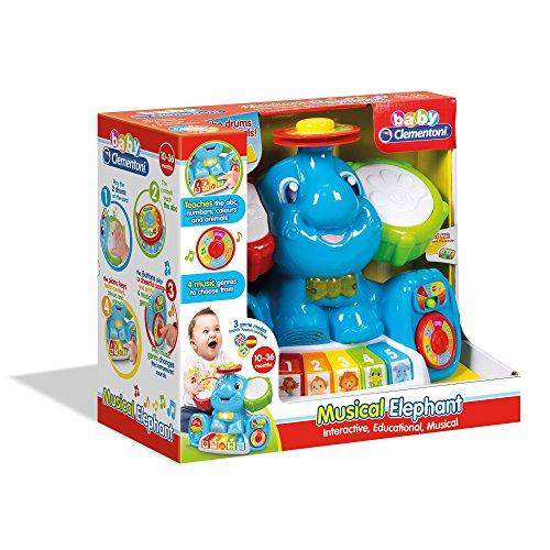 Clementoni- Elefante Musicale, Multicolore, 61322