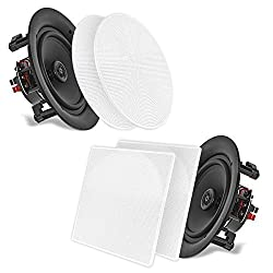 """in budget affordable 6.5 Pyle 2-Way Midrange-Wall / Ceiling Mounted Woofer Pair, 1/2 inch Height …"""""""