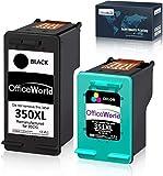 OfficeWorld Remanufactured HP 350XL 351XL Druckerpatronen Kompatibel für HP Photosmart C4480 C4580 C4380 C4348 C4270 C4272 C4275 C4483 C5273 C5275 C5280 C5283 C5200 C4585 C4500 C4485 C4210 C4400