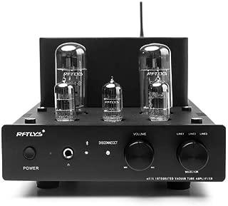 RFTLYS EA1A Headphone Amplifier & Integrated Amp Wireless Bluetooth EL34 Tube Class A Single-Ended (Black)