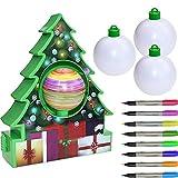 Juego de Bricolaje para árbol de Navidad, Adornos de Bolas de decoración, Juego de Juguetes de Dibujo Artesanal para niños, (versión Mejorada de música + iluminación)