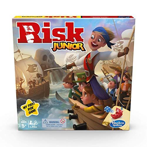 Hasbro Gaming Risk Junior Game, Juego de Mesa de Estrategia, introducción de...