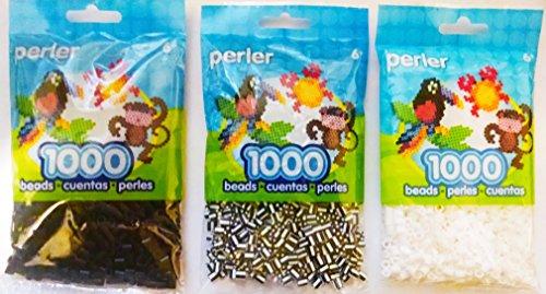 1000 black perler beads - 7