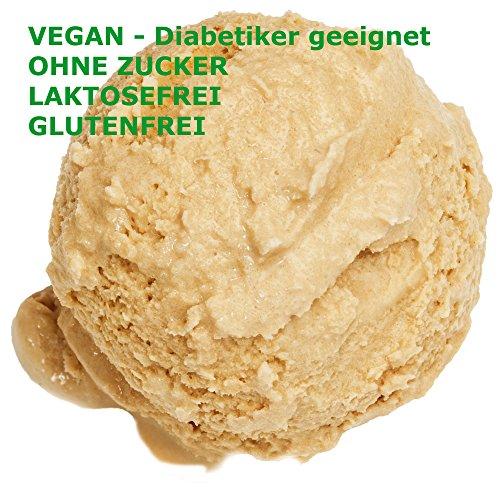 Crème Brûlée Geschmack Eispulver VEGAN - OHNE ZUCKER - LAKTOSEFREI - GLUTENFREI - FETTARM, auch für Diabetiker Milcheis Softeispulver Speiseeispulver Gino Gelati (Crème Brûlée, 1 kg)