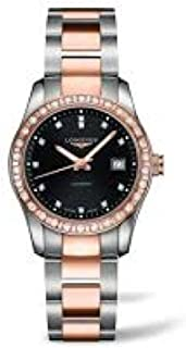 Longines Conquest Classic Automatic 18k Gold and Stainless steel Diamond Bezel and Diamond Markers Exhibition Back Women's Watch