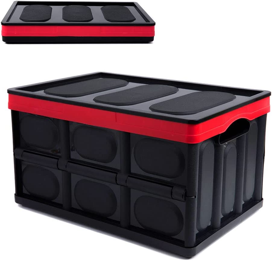 Lidded Plastic Collapsible shipfree Storage NEW before selling Box Trunk Car Fol Organizers