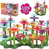 DigHealth Blumengarten Spielzeug für Mädchen, 109 PCS DIY Bukett Gebäude Spielzeug Sets Geschenk, Pädagogisches Kreative Spiele für 3-6 Jährige Kinder