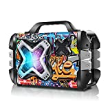 Bluetooth Speaker, Portable Bluetooth Speakers Big Power Wireless Stereo Sound Rich Bass Speakers Outdoor Party Speaker with Lights Support Remote Control FM Radio Microphone for Home, Travel, Camping