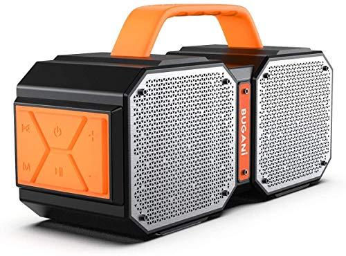 Altavoz Bluetooth - Bugani M83 portátil exterior resistente al agua Bluetooth altavoz, calidad estéreo inalámbrico de 40 W con graves en auge,llamadas manos libres, TWS, 32.3 x 17 x 11.1cm 2.1 kg