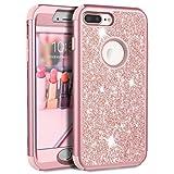 Prologfer iPhone 7 Plus Case Glitter PC Hard Back 3 in 1