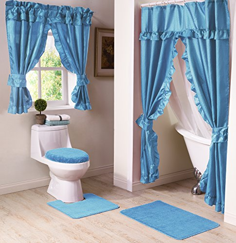 Madison Starlite Deluxe Swag Blue Shower Curtain