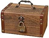 La hucha de madera es indeseable para las monedas de almacenamiento en el hogar Billetes de billetes de estudio Decoración de estudio y muebles Discotes para niños y regalos de cumpleaños de niño
