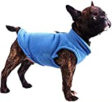 PAWSFECT Dog Fleece Vest Soft Winter Warm Dog Clothes Puppy Pullover Harness with Leash Ring for Yorkie Small Medium Dogs Cats Doggy Sweater for Dachshund Chihuahua French Bulldog Pug,S