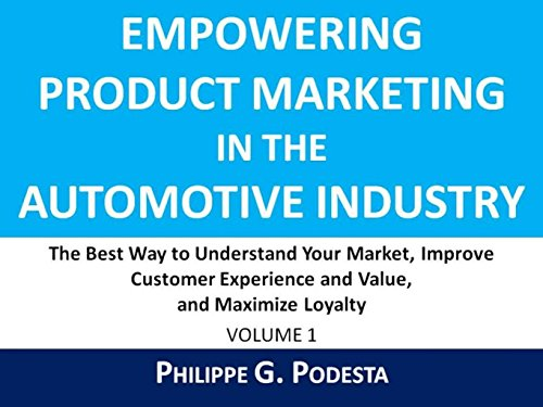 Empowering Product Marketing In The Automotive Industry: The Best Way To Understand Your Market, Improve Customer Experience And Value, And Maximize Loyalty (English Edition)