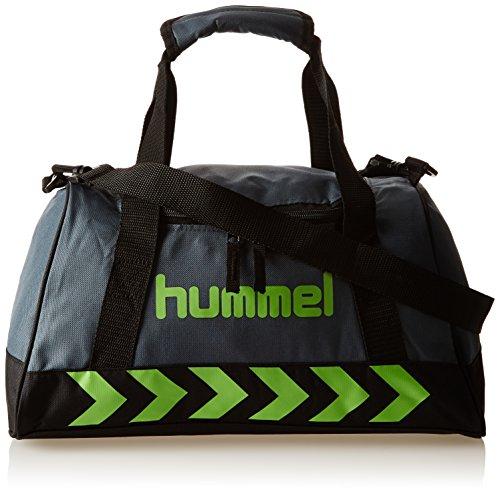 Hummel Authentic Sports Bag Sporttasche, Größe:XS, grün(Dark Slate/Green Flash), 40x23x21cm, 14 Liter