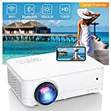 Full HD Native 1080P WiFi Bluetooth Projector, 9800LM 450' Display Support 4K Movie Projector, High Brightness for Home Theater and Business, Compatible with iOS/Android/TV Stick/PS4/HDMI/PPT