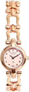 Casual Watch for Women by Accurate, Gold, Round, ALQ306S