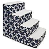 4 Step Portable Pet Stairs By Majestic Pet Products Navy Blue Links Steps for Cats and Dogs