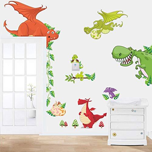 Rgdrh Dinosaurio Dragón Etiqueta de la pared Calcomanías de vinilo N