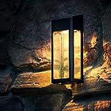 LUTEC 3700K Luces solares de pared para exteriores con cristal de burbujas clásico de Acuario, linterna LED de decoración de pared para interiores con encantador efecto de luz, 4 paquetes