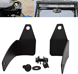 Below Roof Windshield 30'' LED Light Bar Mounting Brackets Fit Polaris RZR XP 1000 900 Models
