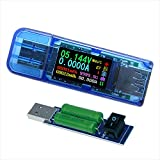 USB 3.0 Power Meter Tester AT35 USB Load Digital Multimeter Current Tester Voltage Detector DC 30.00V 4.000A Test Speed of Charger Cables QC 2.0/3.0 AP 2.4A (AT35+Load)