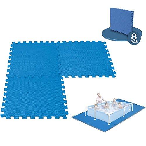 Alfombra modulable para piscina, 8paneles –50cm x 50cm
