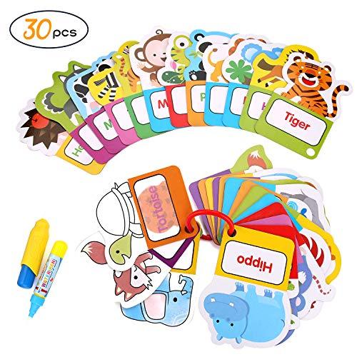 BBLIKE magisch Wasser Zeichnen Malbuch Matte, Malbücher kritzeln mit 2 Zauberstift Wiederverwendbare Malerei Brett Kreative Spielzeug Geburtstagsgeschenke 3+ Jahre alte Kinder (E)