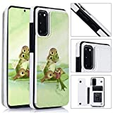 Frog Samsung Galaxy S20 Wallet Case TPU Leather Folio TPU Stand Case with Card Slots Magnetic Closure Wallet Case for Samsung Galaxy S20