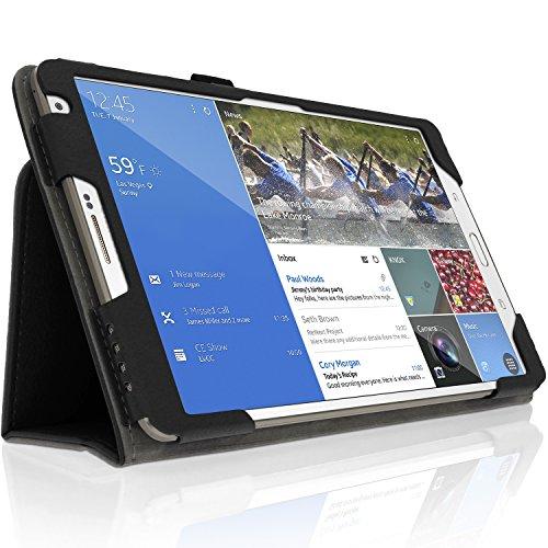 iGadgitz U3136 Schutzhülle aus PU-Leder & Bildschirmschutzfolie Kompatibel mit Samsung Galaxy Tab S 8,4 Zoll SM-T700 - Schwarz