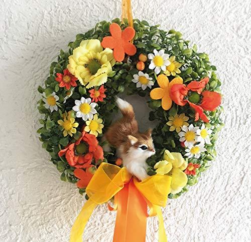 My Home Wandkranz Katze, orange