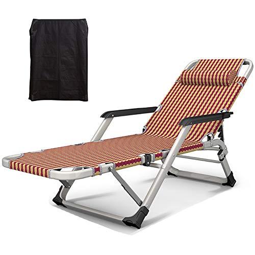 ZCJB Camping Bed Cot Ladies Lounge Plegable For Uso En Interiores con Almohada, Comfort Teslin, Sopo