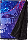Liquid Blue Men's Grateful Dead Cosmic Stealie Warm Coral Fleece Throw Blanket, Multi, 50' X 60'