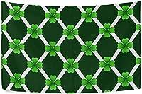 パトリックスデータペストリー60 X 51インチ、グリーンシャムロックダイヤモンドブラックバックグラウンド壁タペストリーポリエステル壁掛けタペストリーベッドルームリビングルーム寮ホームDecor-90x60Inch-のための壁掛けタペストリー