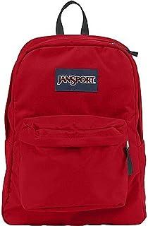 حقيبة ظهر كلاسيكية سوبربريك من جانسبورت، لون أحمر عالي المخاطرة