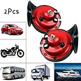 yhsndy 300db Train Horn for Trucks,Loud Air Electric Snail Single Horn,Waterproof Motorcycle Snail Horn,12v Double Horn...