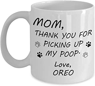 Customizable Personalized Dog Mom & Dad Custom Pet Name Coffee Mug Perfect Gift Idea For Birthday Graduation Christmas Father's Day Mother's Day Gifts From Fur Child Dog Lover Gifts 11oz (B)