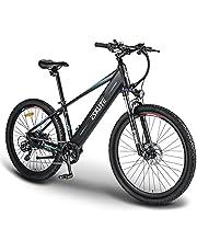 """ESKUTE E-bike MTB Elektrische Fiets Mountainbike Voyager 27.5"""" met 48V 10Ah Lithium Batterij, Volwassen Elektrische Fiets 250W, Shimano 7 Versnellingen, Vertrouwelijke e-bike voor het Verkennen"""
