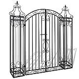 Tidyard Ornamental Garden Gate, Entry Gates Driveway Cottage Gate Wrought Iron 4'x8 x4' 5'