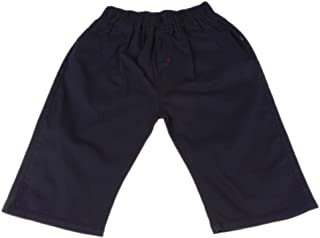 Perfeclan Boys Children Fashion Capri Pants Casual Knee Cotton Pants