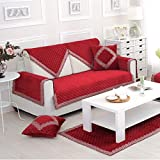 Funda de sofá antideslizante para cojín de felpa de algodón acolchado para exteriores, fundas de sofá decorativas pesadas de encaje, 90 x 180 cm