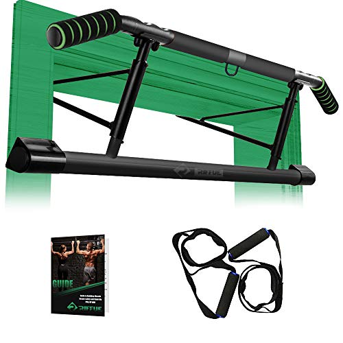 Chriffer Pull Up Bar for Doorway with Mount Hook No Screw Chin Up, Strength Training Upper Body...