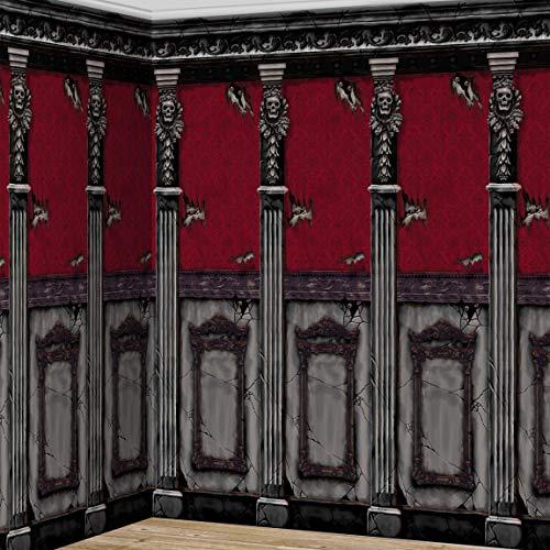 falksson XL Wanddeko Zimmerwand des gruseligen Herrenhauses 2-TLG. 6 m
