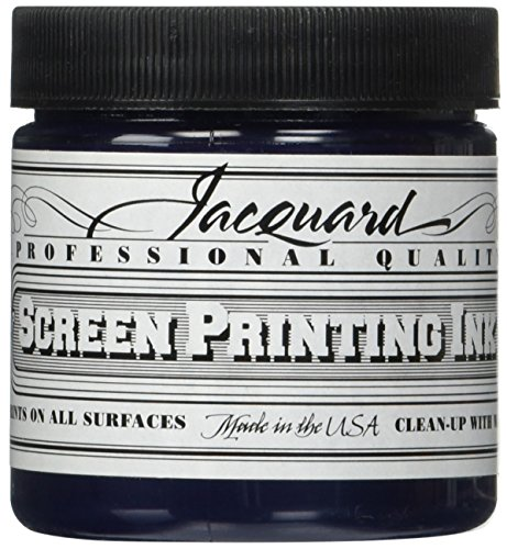 Jacquard JAC-JSI1112 Screen Printing Ink, 4 oz, Navy