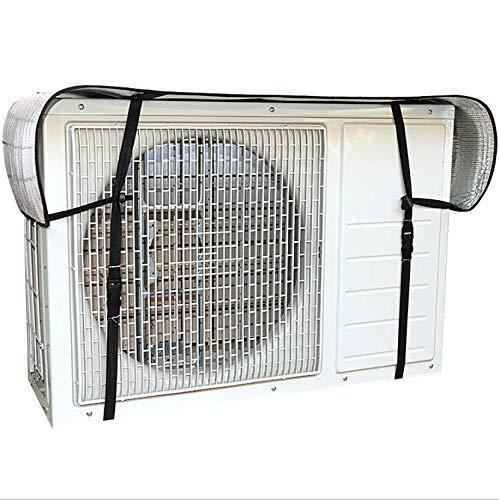 Copertura per condizionatore d'aria per finestra, per esterni, anti-polvere, anti-neve, impermeabile, protezione dal sole, protegge con corda di legame (3P 92 x 35 x 69 cm)