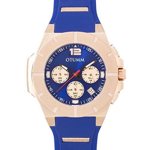 Otumm Speedster Unisex Uhr 45mm mit Blau Armband XSPRG003